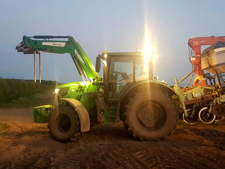 One of our farmers Paul, planting at dawn.