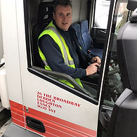 Adam Sparks drving deliveries in Essex