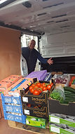 Nel with fruit and veg deliveries in van