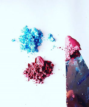 Working with pigments today, I just love