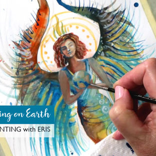 Painting a Peace & Healing Angel (video)