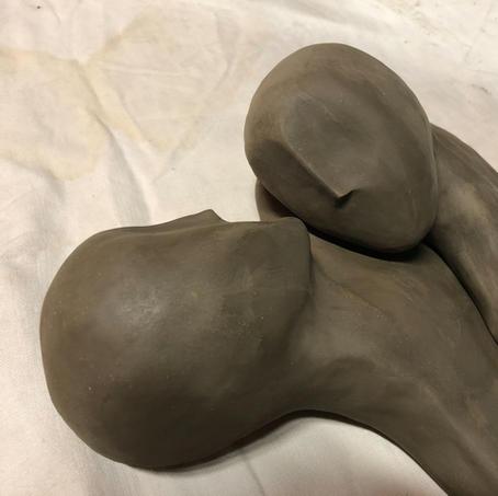 Sculpture 2 pièces amovibles