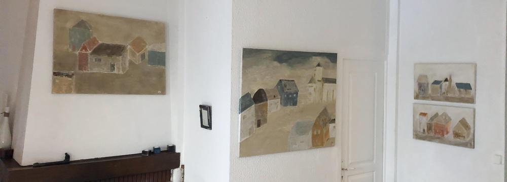 Petites toiles à droite vendues.