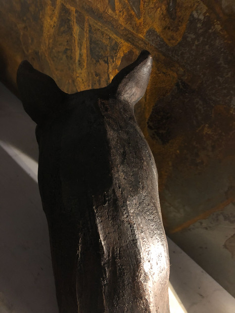 Tête de Cheval 2019 Terre cuite patinée à la cire