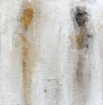 Paint 50 x 50 cm Small size Acrylic, Ash, Natural pigments