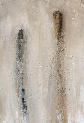 Paint 38 x 55 cm Small size Acrylic, Ash, Natural pigments