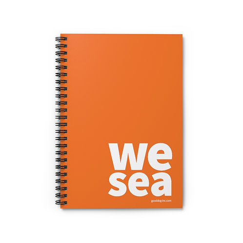 WESEA Orange Spiral Notebook - Ruled Line