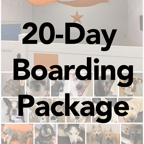 20-Day Boarding Package