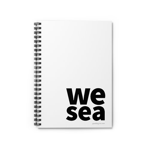 WESEA White Spiral Notebook - Ruled Line