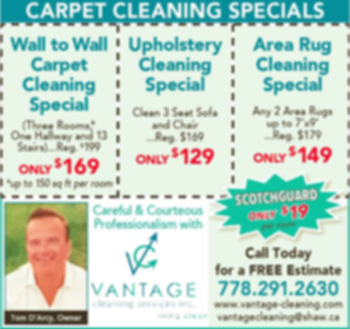 Carpet Cleaning Specials Vantage Cleaning Services Surrey BC