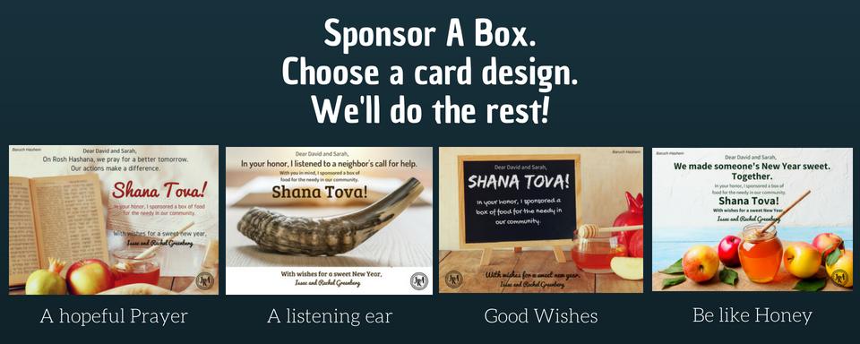 Sponsor A Box.Choose a card design.We'll