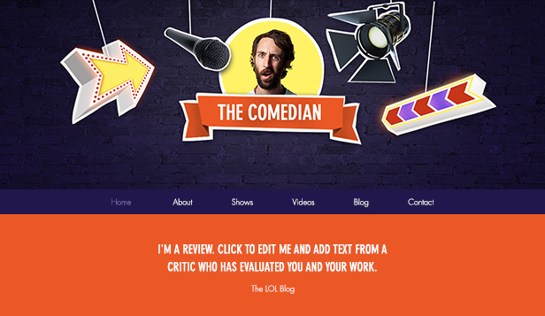 Artes Escénicas website templates – Comediante