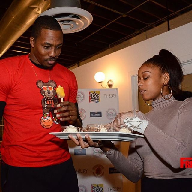 Telling _dwighthoward about some of our delicious flavors yours truly _candyssweetsntreats made for