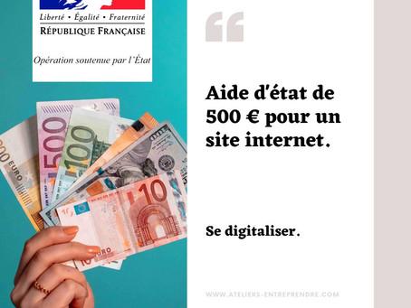 500€ d'aide de l'État pour les commerçants.