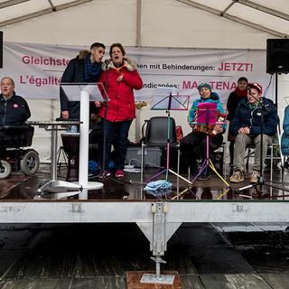 Die Band Musik trotz allem, bestehend aus Kindern und Jugendlichen mit Behinderungen.