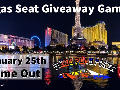 Vegas Seat Giveaway II