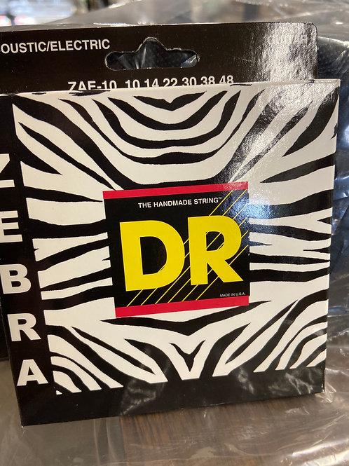 DR Acoustic / Electric Guitar Strings ZEBRA