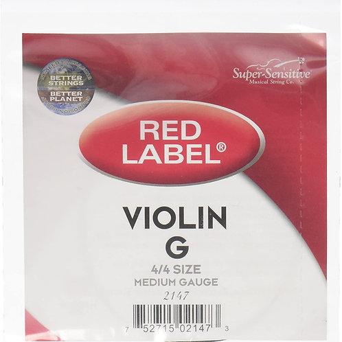Super Sensitive Red Line Violin G String  4/4