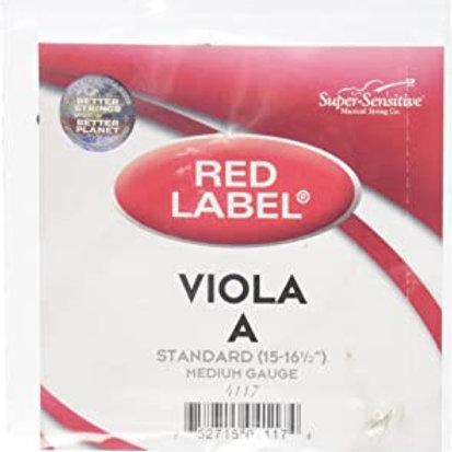 Super Sensitive Red Label  Viola A String,