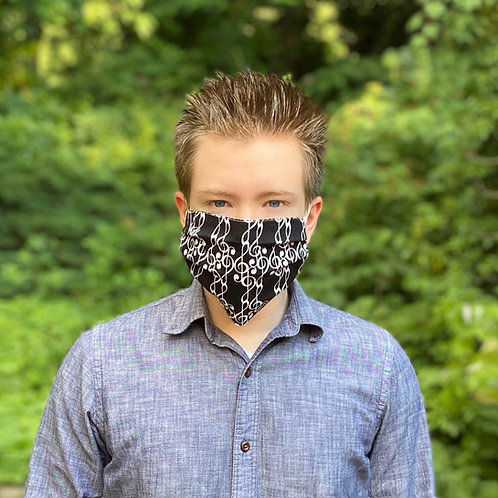 """Protective Music Face Mask Cover  -  """"G"""" Clef"""