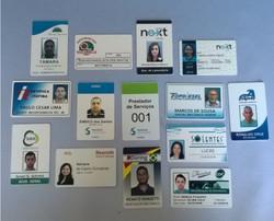 Crachás e carteirinhas em PVC