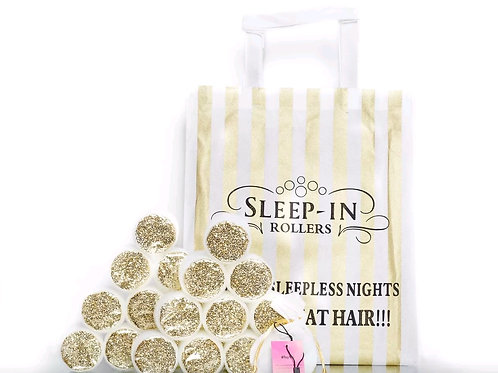 Gold Glitter Sleep in Rollers