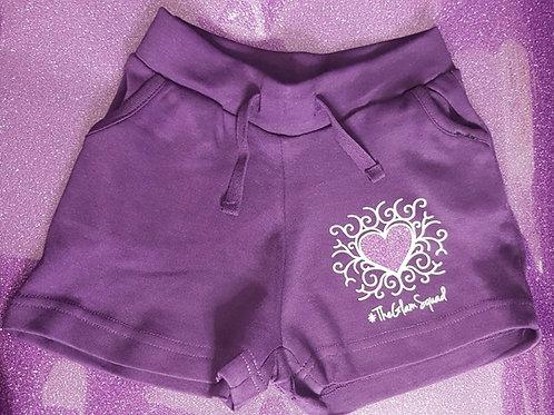 Purple Loungewear Shorts