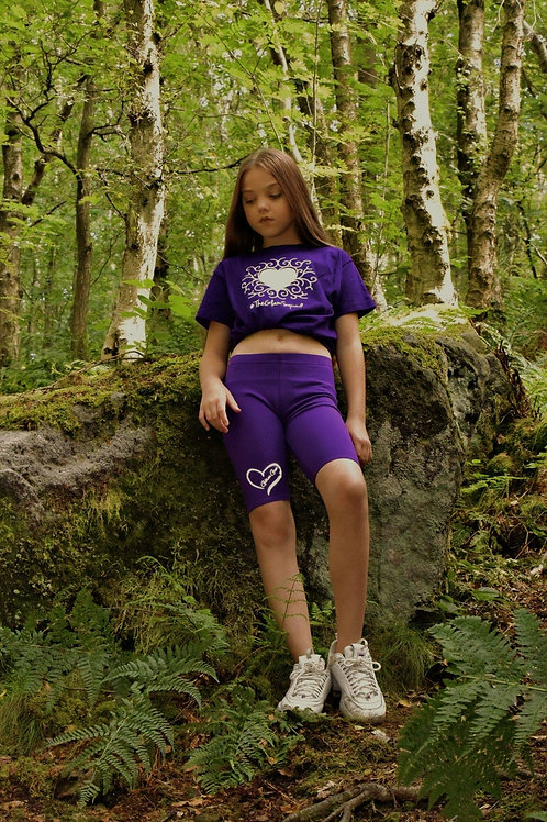 Purple Glow/ Reflective Tshirt