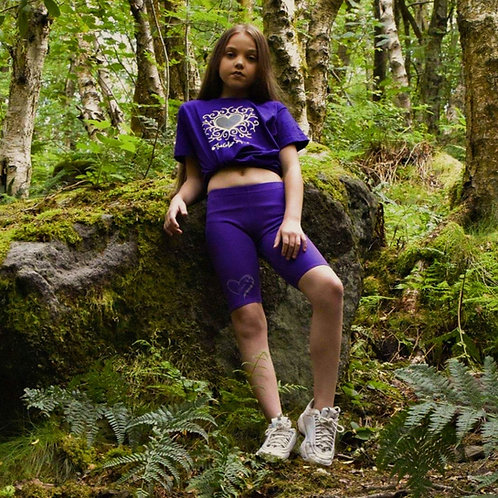 Glam Gear Sports Purple Cycling shorts