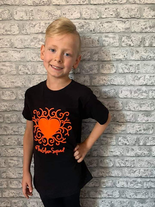 CARSON Black/Orange Tshirt
