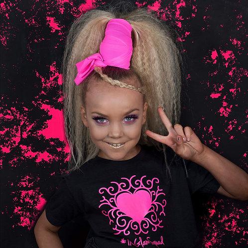 Black/ Pink Neon UV Glam Glow Top