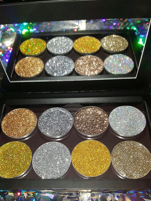 Large Bespoke Pressed Glitter Palette
