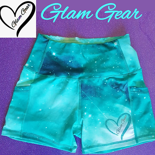 Glam Gear Galaxy Luxe Sports Shorts Torqoiuse