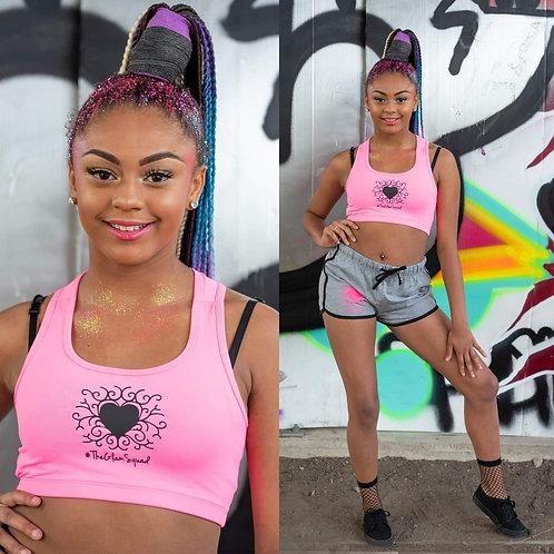 Glam Barbie Set Crop Sports Top/ Shorts