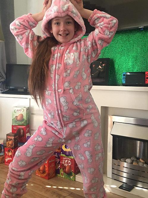 Fluffy Bunny PJs onesie