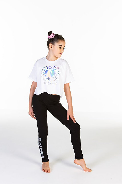 New Kids Holographic Heart Crop T-Shirt
