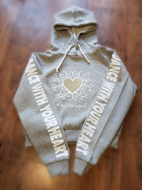 Dance With Your Heart Crop Hoodie