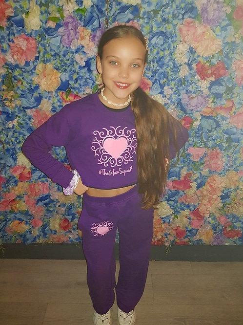 Purple Crop Jumper