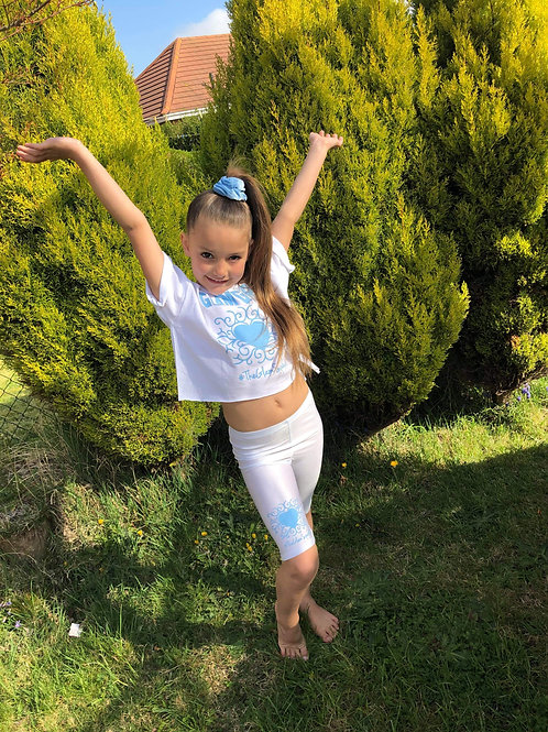 Glam Baby Blue Barbie 'RJ' Set top and shorts
