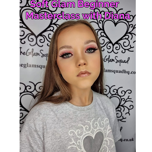 Recorded Soft Glam beginner makeup class with Diana