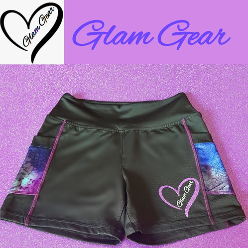 Glam Gear Sports Galaxy Luxe Shorts Black