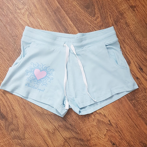 Pastel Dreams Blue Loungewear Shorts