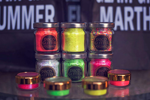 Neon UV Glam Glow Collection Glitters 50g