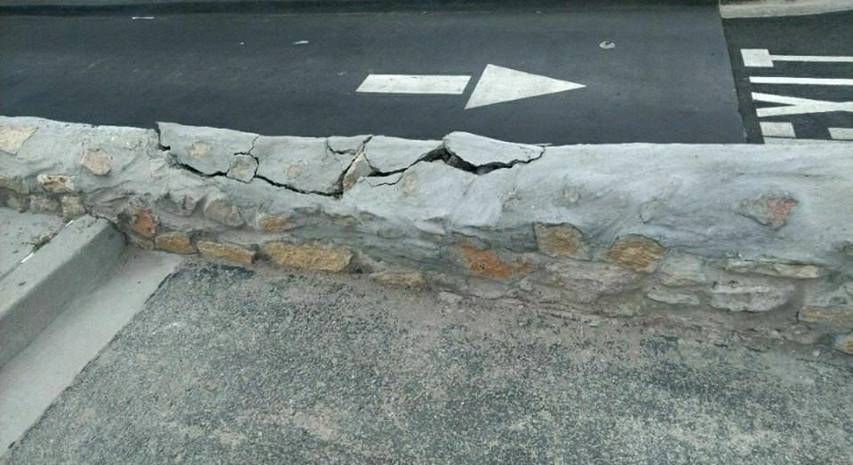 Rock wall repair