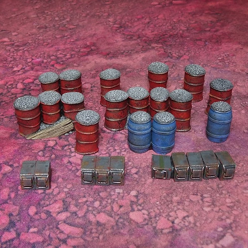 Sci-Fi Gabions and Ammo Boxes