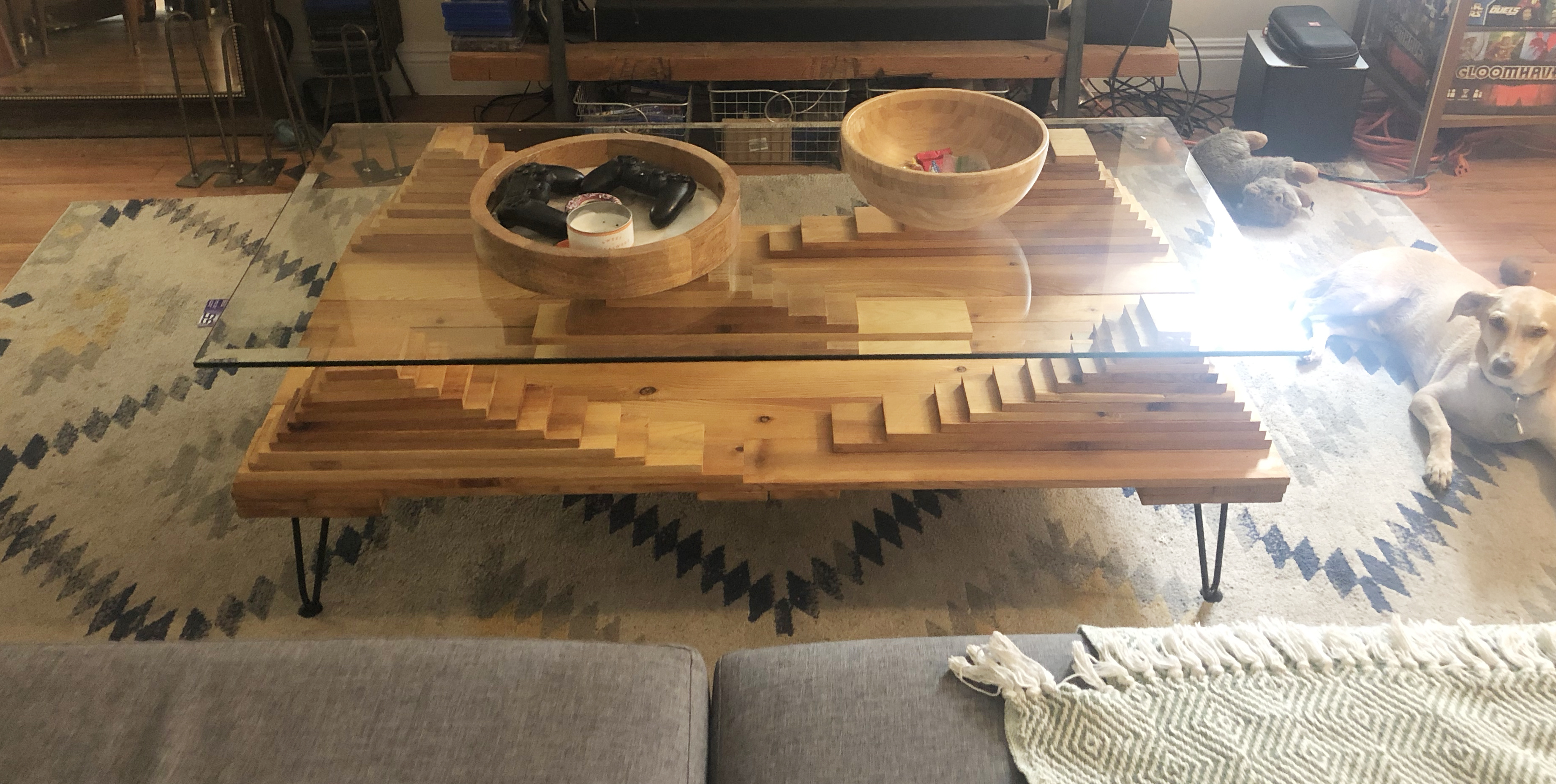 Mayan Revival coffee table