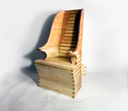 Lambing chair made from maple and cherry