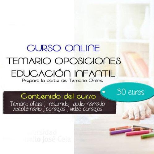 CURSO ONLINE TEMARIO OPOSICIONES INFANTIL