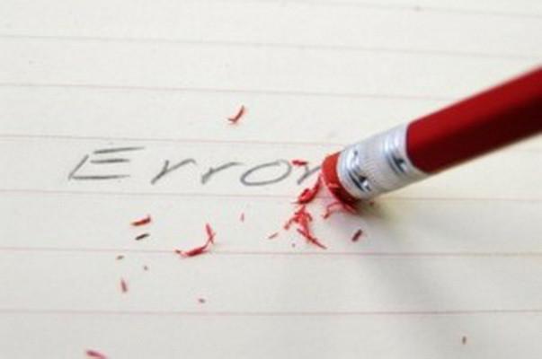 Errores típicos que se comenten al realizar un supuesto práctico