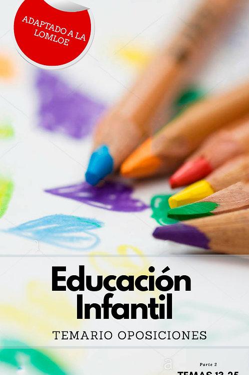 TEMARIO OPOSICIONES AL CUERPO DE MAESTROS DE EDUCACIÓN INFANTIL II. LOMLOE